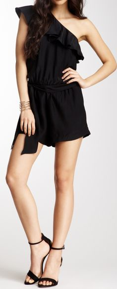 Ruffled Romper Dress