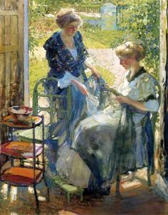 The Garden Room, Giverny ~ Richard Edward Miller ~ (American: 1875-1943)