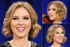 Scarlett Johansson - love the texture in this bob