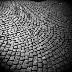 cobblestone road, Montmartre, Paris, France