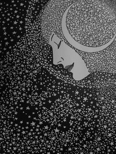 This Night By Don Blanding    I see a luminescent trail  Of powdered star-dust, faint and pale,  Across the sky, like moths in flight.  A crescent moon of phantom-white  Is tangled in the filmy veil.  My heart responds with quick delight.  I greet the Lady of the Night.