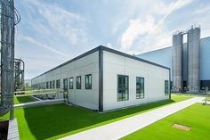 Factory Offices. Architectural photography for Portakabin Group of modern factory offices