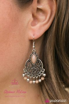 Scuba in Aruba ~ a darling pair of earrings with a hint of hazelnut color
