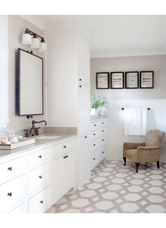I LOVE large scale tile on bathroom floors (need a big bathroom for it though).