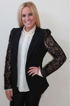 Black sequined blazer $79  www.herringstonesboutique.com