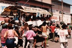 Steelband on the streets all over town in Port of Spain during carnival. Peter Krog