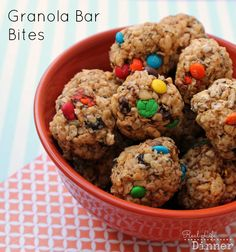 Granola Bar Bites...I love sneaking healthy ingredients into snacks for my kids. These are awesome! | reallifedinner.com