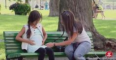 Woman Sees This Pregnant Little Girl At The Park. When The Baby's Daddy Arrives? Wow...