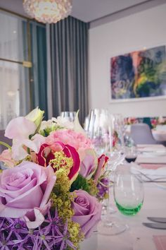 Details of a charming wedding table setup spotted in the Hotel Sans Souci in Vienna Wedding Night, Dream Wedding, Wedding Table Setup, Business Events, Wedding Locations, Vienna, Got Married, Tablescapes, Table Decorations
