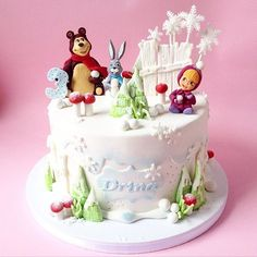 #cake #kidscake #mashaandthebear #cartoon #winter #snow #snowflake #masha #birthday #party #love #loveit #lovemyjob #novisad