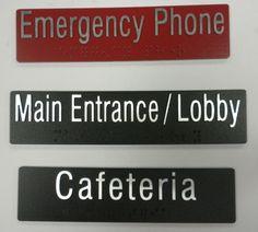 Custom TRU-A elevator floor identification tags with Braille.  www.truxes.com