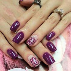 Purple nails. Nail Art. Nail Design. Polish. Polishes. Polished. Instagram by @lucinhabarteli
