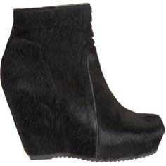 Calf Hair Boots; Rick Owens.