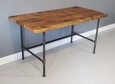 Reclaimed Urban Wood Desk - Industrial Pipe Legs - Free Shipping - Lifetime Warranty - Reclaimed Salvaged Barn Wood on Etsy, $520.00