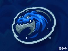 Blue Dragon Mascot Logo designed by HSSN DSGN. Connect with them on Dribbble; Game Design, Logo Design, Robot Logo, Scary Games, Blue Dragon, Game Logo, Logo Sticker, Superhero Logos, Mythology