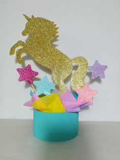 These Center Piece of Unicorn inspired are the perfect solution for your theme party Your guests will be fascinated ready to use for your birthday party inches approx size of 1st Birthday Princess, Unicorn Themed Birthday, Dragon Birthday, Unicorn Party, 4th Birthday Parties, Birthday Party Decorations, Party Themes, Unicorn Centerpiece, Unicorn Baby Shower