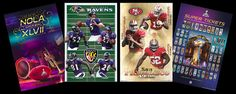 SUPER BOWL XLVII (New Orleans 2013) 4-POSTER PARTY PACK - Delivered for Superbowl Sunday, February 3, 2013
