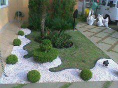 Jardín todo verde