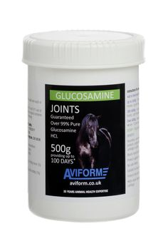 GLUCOSAMINE HYDROCHLORIDE Equine Joint Supplement Looking for straight purest Glucosamine HCL for your horse (as recommended by many veterinarians) at a unbeatable price. Aviform Glucosamine HCL is the best available, with a guaranteed purity of, at the very least 99%. Prices start at just £ 19.95
