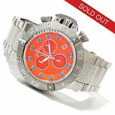 Invicta Mens Subaqua Noma III Swiss Made Quartz Chronograph Lume Dial Bracelet Watch
