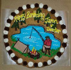 Fishing Cookie Cake Fish Cookies, Super Cookies, Iced Cookies, Cupcake Cookies, Cookies Et Biscuits, Cookie Cakes, Chocolate Cookies, Giant Cookie Cake, Cookie Cake Birthday
