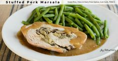 Stuffed Pork Marsala is an impressive way to feed your dinner guests. You'll be surprised how easy it is. Low Carb, THM S, Paleo & Dairy Free Option.