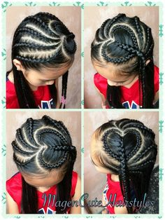 Ways You Can Stretch Your Natural Hair Without Using Heat Forme de coeur tresse hollandaise❤️❤️❤️ Lil Girl Hairstyles, Girls Natural Hairstyles, Kids Braided Hairstyles, Little Girl Braids, Braids For Kids, Girls Braids, Curly Hair Styles, Natural Hair Styles, Girl Hair Dos