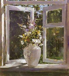 А.Зотов, Цветы на окне