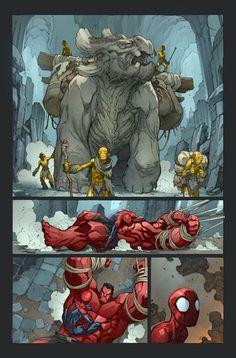 #Joe_Madureira Avenging Spider-Man #2 pg 1