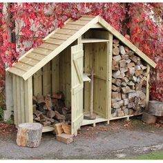 The High Hinton Log Store, made in England by Dorset Log Stores. Sentry Box style outdoor log store with timber, slate or shingle roofs options, FREE DELIVERY, 15 year warranty. Outdoor Firewood Rack, Firewood Shed, Firewood Storage, Garden Buildings, Garden Structures, Diy Pallet Furniture, Diy Pallet Projects, Log Shed, Shed Images