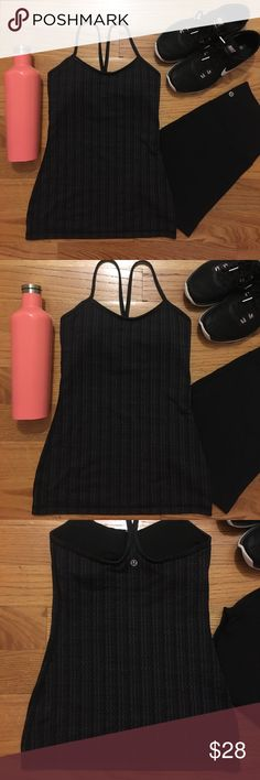 lululemon power Y tank Practice yoga in style in this lululemon power Y tank! Gray and black print, size 4. Pair with black leggings for a cool look or go sassy with a bold colorful legging combo! Longer length is perfect for barre workouts too! Worn only twice so this tank is in excellent condition. Only selling because I have too much lulu and need to downsize my closet! Sorry ladies, other items shown with the tank aren't included in this sale. Much love, poshers! 😘 lululemon athletica…
