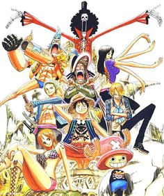 One of my favourite manga ONE PIECE  Very scatty and funny ;)