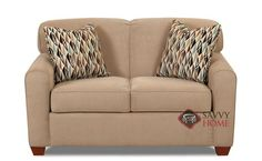 Zurich Twin Sleeper Sofa by Savvy. A popular choice. Comfortable and supportive. Customizable.