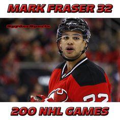 Mark Fraser Reaches 200 NHL Games   Spyder Sports Lounge