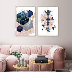 Set of 2 printable blush pink teal gold geometric prints Pink Green Bedrooms, Green Bedroom Walls, Teal And Gold, Pink And Green, Navy Blue, Gold Color Palettes, Wall Maps, Happy Colors, Wall Art Decor