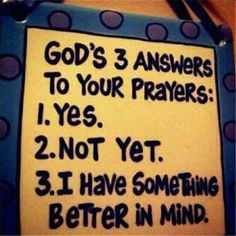 He has answers for everything in our lives.