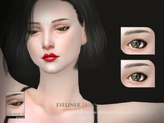 Sims 4 CC's - The Best: Eyeliner by S-Club