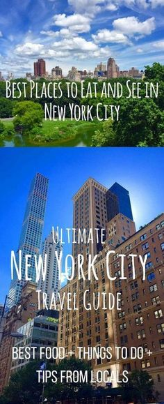 Best Places to Eat and See in New York City. The ultimate guide to NYC. Tips and tricks from locals on how to navigate the city. Best places to eat in New York City plus the best places to see while you are there. It's one of my most popular cities to visit in the world for good reason. A perfect comprehensive travel guide to New York City! New York Essen, New York City Trip, New York City Eats, Travel To New York City, New York City Guide, New York Tours, New York Life, New York Vacation, Best Places To Visit