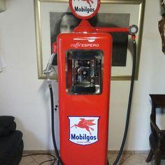 Old pumps..  espresso machine..