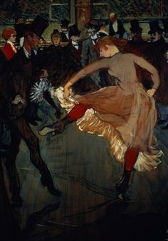 wasbella102:  Henri de Toulouse-Lautrec: The Dance at the Moulin Rouge, detail showing Valentin Desosse (1889).