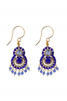 gold filled beaded earrings I designed by #miguel #ases I NEWONE-SHOP.COM