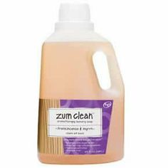 Zum Clean Laundry Soap Frankincense & Myrrh-64 oz. by Zum. $23.87. No synthetic foaming agents, chemicals and artificial stuff. Instead, Zum Clean uses coconut oil, baking soda, vegetable glycerin, natural borax and 100% pure essential oils. Low-sudsing, highly concentrated, and great for high-efficiency machines, 100% all-natural Zum Clean Laundry Soap washes 32 loads in top-loading washing machines and 64 loads in high-efficiency washing machines.