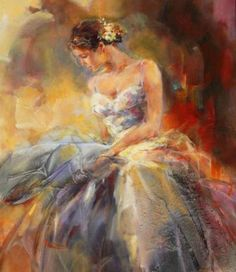 Anna Razumovskaya, painter. I need to figure out how to create a painterly effect with Photoshop to make photos look something like this.
