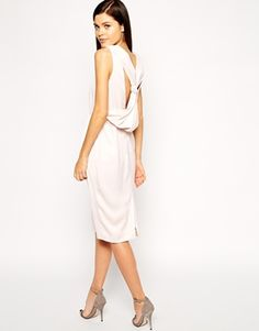 ASOS Origami Bow Drape Back Dress