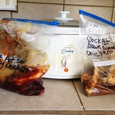 Crock Pot Freezer Meals - Quick and easy meals ready to go, just what I need!!!!