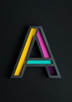 Atype Paper Art by Lobulo Design #typography