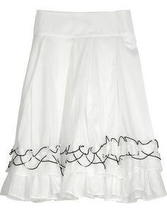 K KARL LAGERFELD | White cotton skirt ($340)