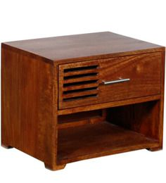 Eros Bedside Table in Colonial Maple Finish by Woodsworth