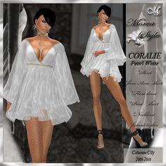 DRESS TUNIQUE *CORALIE pearl white*