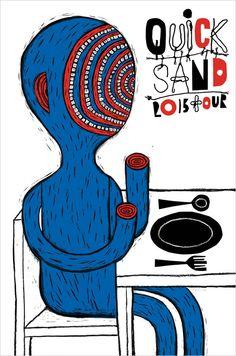 Quicksand 2013 Tour Poster by Melinda Beck